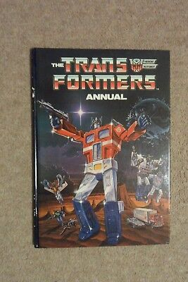The TRANSFORMERS Annual for 1986 by Marvel Comics. Hardback.