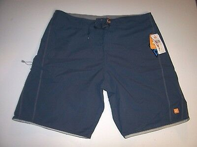 Quiksilver Loc Scallop Boardshorts Mens Blue Teal Red Board Shorts New NWT