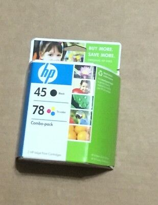 Gen. HP 45 / 78 Black & Tri Color C8788FN Ink Cartridges  New Sealed