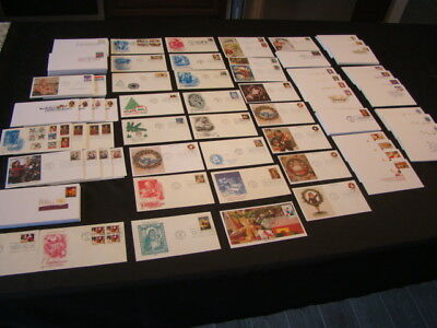 Excellent Group Of 213 Unaddressed Modern First Day Covers Holidays & Love Nice!
