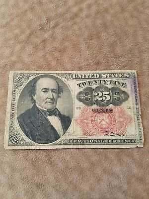 1874  fifth issue 25 CENT FRACTIONAL CURRENCY -