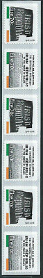 Ireland 2016 Easter Rising self adhesive coil strip of 6 MNH
