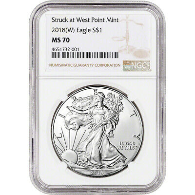 2018-(W) American Silver Eagle - NGC MS70