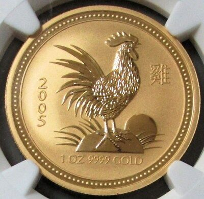 2005 Gold Australia $100 1 Oz Lunar Year Of The Rooster Ngc Mint State 69