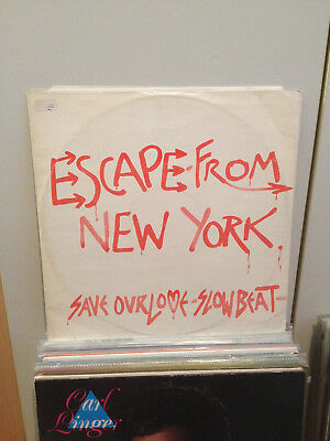 """Escape From New York - Save Our Love 12"""" Electro Disco Synth Wave, Rusty Egan"""