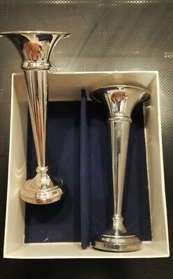 Pair of Vintage William Adams Silver Plate Candle Holders New