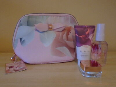 TED BAKER Beauty To Behold GIFT SET Make Up/Wash/Cosmetics Bag + 3 Treats