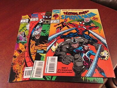 The Lethal Foes of Spiderman #1 2 3 4 Marvel 1993 Comic Book Set 1-4 Complete