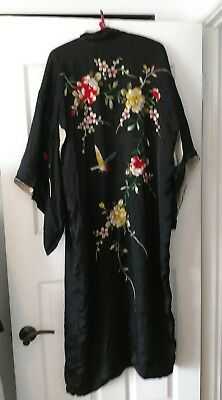 Vintage Oriental embroidered women's robe