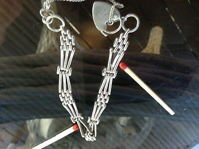 Sterling silver antique gate Braclet in need of small repair.