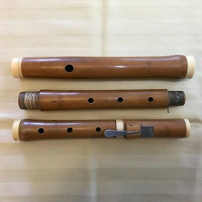 200 Year Old 1 Keyed Boxwood Flute, Felchlin, Berne-Switzerland, Ca. 1800