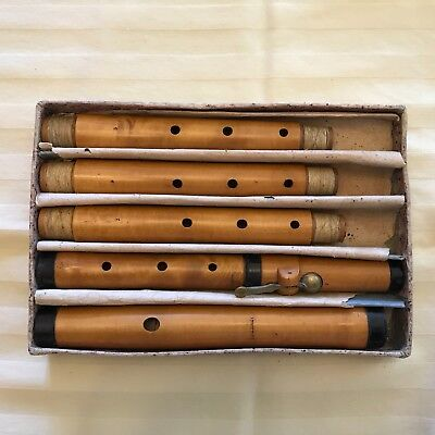 200 Year Old 1 Keyed Boxwood Flute, Dresden, 3 Middle Joints