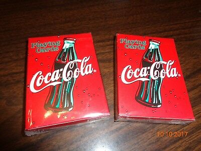 New Coca Cola Collectible Playing Cards (2 Decks) Factory Sealed