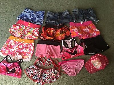 Girls Size 6-8 Shorts/ Boardies/togs/hat