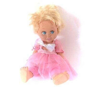 """1990 Baby Face Doll #7 13"""" Galoob So Innocent Cynthia Poseable 90s w/ Clothes"""