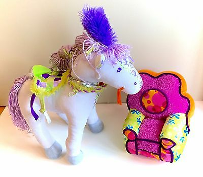 Groovy Girls Lot Primrose Horse Pony Complete and Pink Chair Lounger Plush Soft