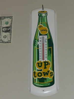 Antqe/Vtg Thermometer Tin Sign, UP-TOWN Soda Pop 26,Rare,USA,1940s,Org,Near Mint