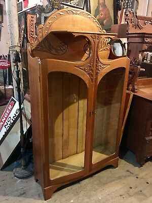 The Best Art Nouveau Oak Original Turn Of The Century Bookcase On eBay Ship Zip