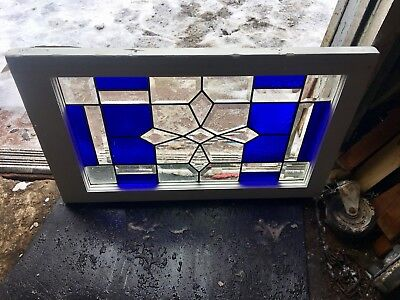 Very Special Antique American Heavy Beveled Architectural Snowflake Window