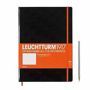 Leuchtturm1917 WhitelinesLink Notebook Dotted A5 Black Hardcover