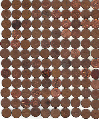 United Kingdom Lot Of 120 One Pence Decimal Coins