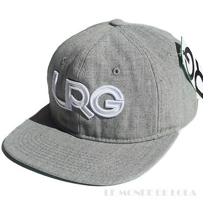 77c9fa0c7fb L-R-G Lifted Research Group Hat Snapback Cap LRG Logo Grey Mens One Size NEW