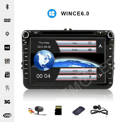 "8""HD VW STEREO DVD GPS sat nav for SEAT Sharan Polo TIGUAN CADDY GOLF MK5 MK6 T5"