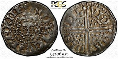 ENGLAND GREAT BRITAIN Henry III Silver 1247-72 (ND) Penny PCGS XF45 S-1363