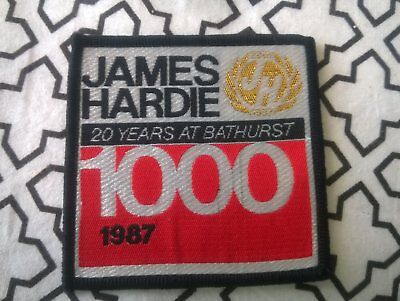 Bathurst 1000 James hardie 1987 20 years cloth patch rare in mint condition !