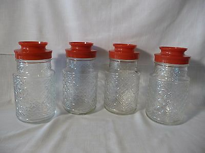 Four Vintage Maxwell House Coffee Jar Canister's Anchor Hocking