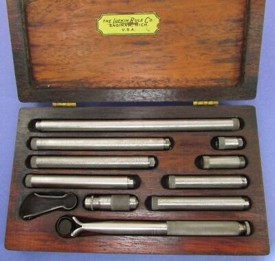 "LUFKIN  680 B Tube Inside Micrometer Set Complete in Case 1.5"" to 12""; Machinist"