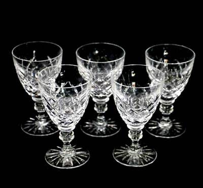 Vintage set of 5 sparkly cut crystal wine glasses in lovely condition