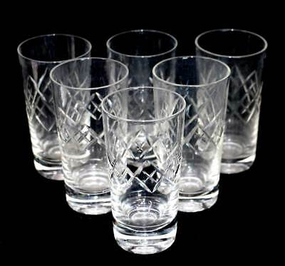 Vintage cut crystal sparkly set of 6 water glasses in lovely condition