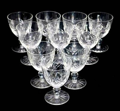Vintage set of 10 cut crystal wine glasses in lovely condition