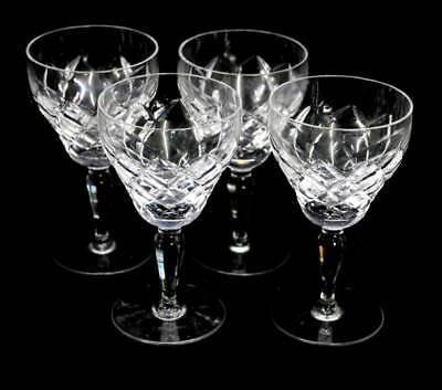 Vintage set of 4 large cut crystal sparkly wine glasses in lovely condition