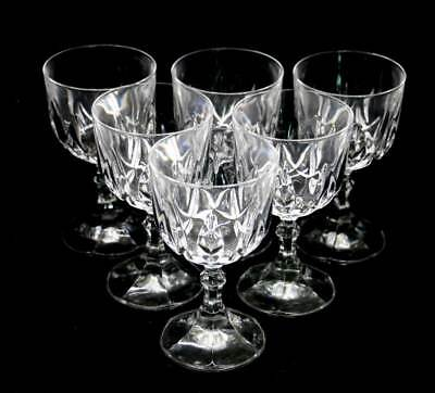 Vintage set of 6 beautifully heavy sparkly crystal wine glasses