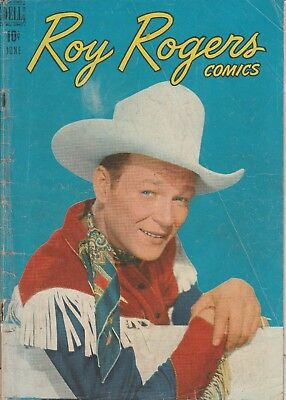 1948  Issue # 6 Roy Rogers Photo Cover Western Dell Vintage Comic Book 10 Cent