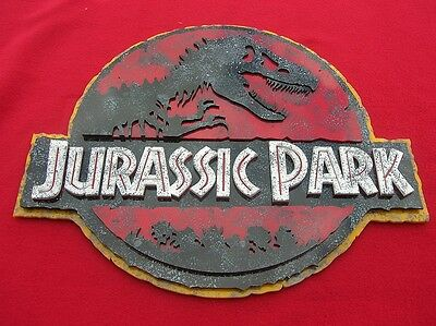 JURASSIC PARK 3D ART sign new 3-D Raptor TRex T-Rex Dinosaur fossil play series