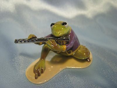 Hagen Renaker Toadally Brass Flute Player Figurine Miniature 03257 FREE SHIP New