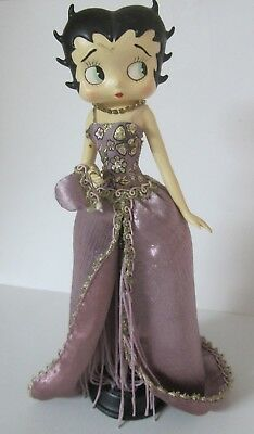 """Betty Boop 11""""  Figure In Formal Dress with Purse on Base"""