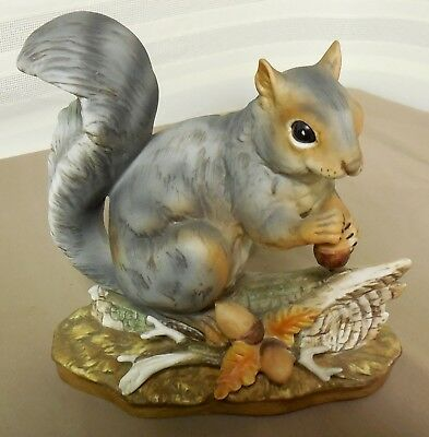 """Masterpiece Porcelain By Homco, """"Squirrel with Acorn"""",  Excellent"""