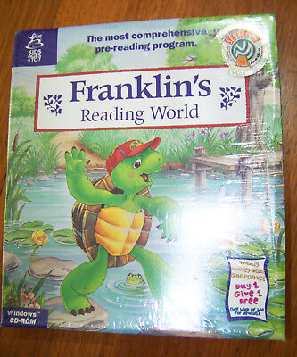 Vintage PC game Franklin's Reading World SEALED New. Kids age 4-7 Reading game