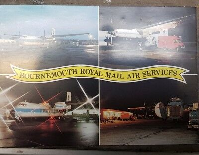 1980 Bournemouth Royal Mail Air Post Office Postcard From Collection A1