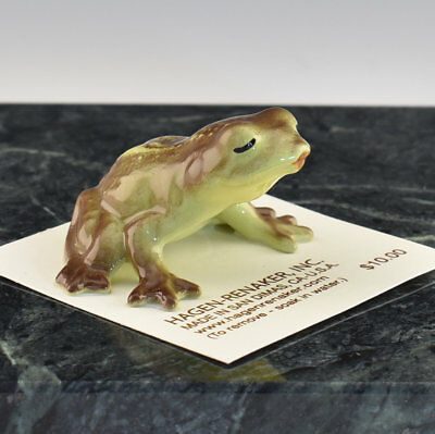 Hagen Renaker Miniature Kissing Frog - New - Item # 04027
