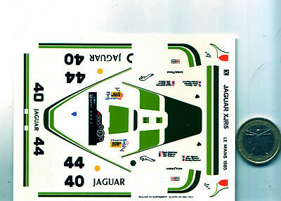 decals decalcomanie deco jaguar xjr 5 lm le mans 1985  1/43