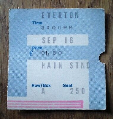 Very Rare EVERTON FC Early 1970s TICKET STUB GOODISON PARK Merseyside Liverpool
