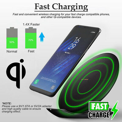 For Samsung Qi Wireless Fast Charger Charging Pad Special Edition w/Wall Charger