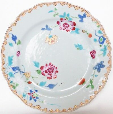 Plat Famille rose Yongzheng Compagnie Indes 18ème / 18th Chinese export dish