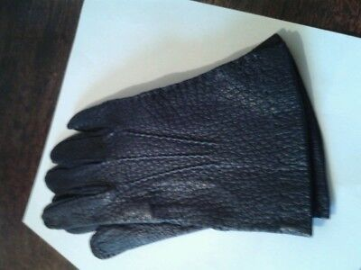 Price reduced!!!   Rare and Beautiful- Peccary skin vintage gloves