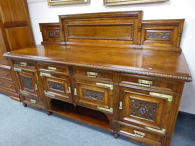Superb Pollard Oak Victorian  Aesthetic Movement Sideboard   c 1870/80.REDUCED